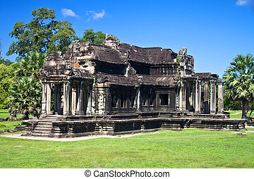 Ancient library in Angkor Wat Temple, Cambodia.