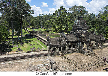Ruins of ancient Angkor temple Baphuon, Cambodia.