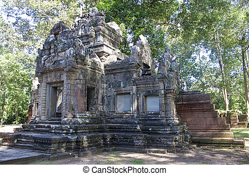 Ruins of ancient Angkor temples, Cambodia.