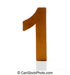 number 1 - Number One on a white background