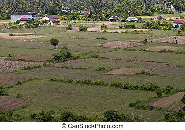 Aerial view of rural area in southern Cambodia