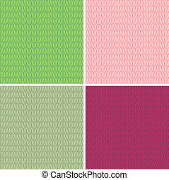Grainy mosaic seamless set - Eps 10 vector abstract seamless...