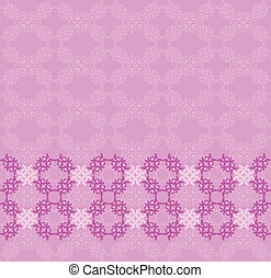 Pink flourish background - Illustration of abstract vintage...