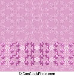 Pink flourish background - Illustration of abstract vintage...