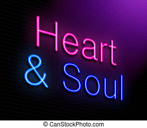 Heart and soul concept. - Illustration depicting an...