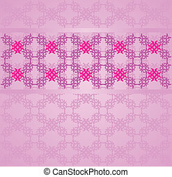 Vintage flourish background - Illustration of abstract...