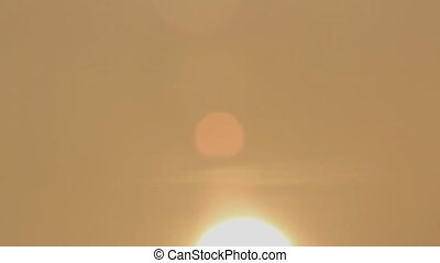 hazy defocused sun - 400mm shot of the morning sun with haze...