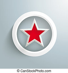 Red Star White Ring - Infographic design with red star and...
