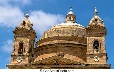 Mgarr Church Dome - Dome of the Mgarr church in the republic...