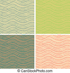 Abstract vector seamless patterns set - Abstract curly...