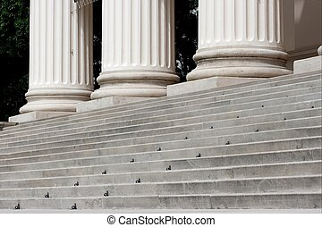 Columns - Stairs and columns of a monumental stone building