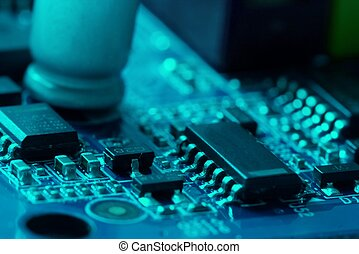 Electronics - Circuit board with electronic components