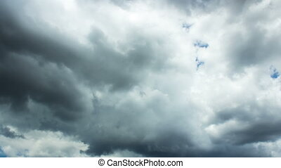 Storm Cloud - time lapse footage of tropical storm clouds...