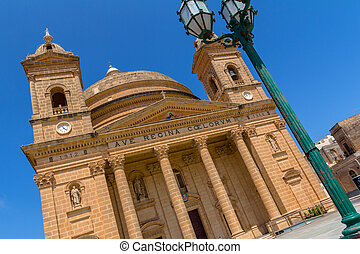 Mgarr Church Weird Angle - The Mgarr church in Malta from a...