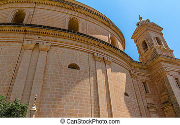 Mgarr Church Rear View - Rear view of the Mgarr church in...