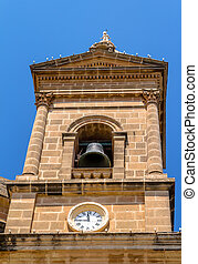 Mgarr Church Tower - Detail of one of the towers of the...
