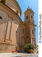Mgarr Church Back - Mgarr church in the republic of Malta...