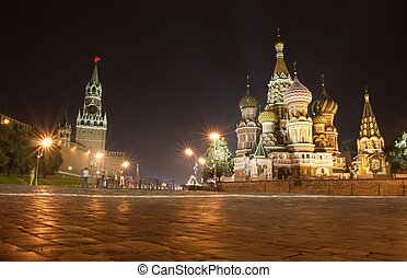Moscow - St Basil cathedral, Red Square, Moscow