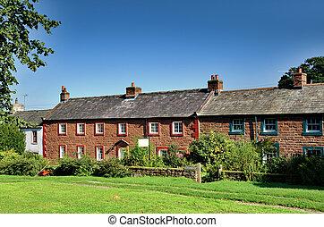 Sandstone cottages in Dufton, Cumbria