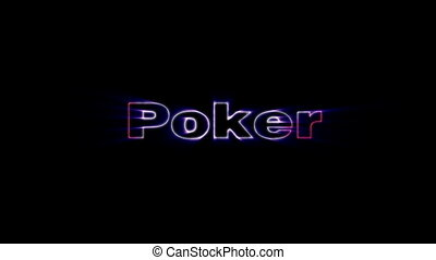 Poker - HD animation with elements explosion