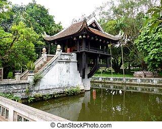 Chua Mot Cot Pagoda, Hanoi, Vietnam