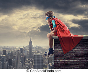 Little Superhero - A young boy dreams of becoming a...