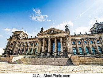 Bundestag in Berlin, Germany - Bundestag (Reichstag) in...