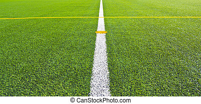 soccer field grass  - Center soccer field grass background