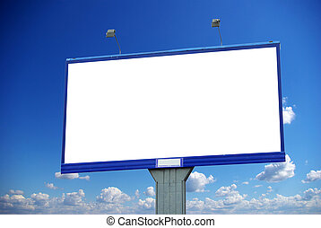 billboard on sky - advertising billboard on sky background