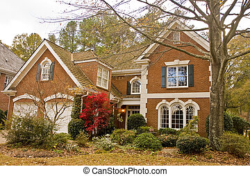 Nice Brick House in Winter - A nice brick home and...