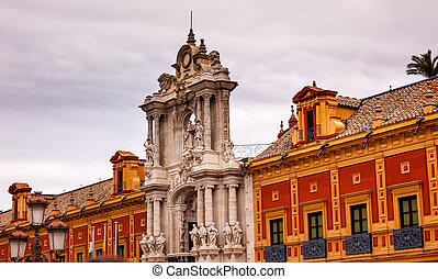 Palace of San Telmo Andalusian President Office Seville...