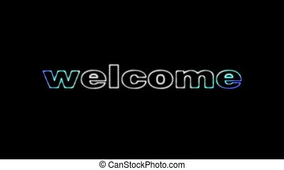 Welcome segments - HD animation with elements explosion