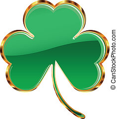 Shamrock or clover icon - Illustration of shamrock or clover...