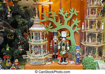 Christmas, shop window - Beautifully decorated Christmas...