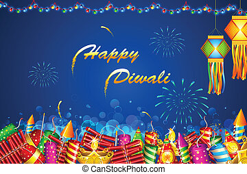 Diwali Background - illustration of Diwali background with...