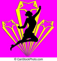 Superhero Business Woman Pop Art