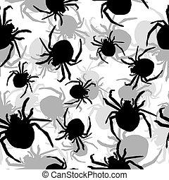 fundo, aranhas