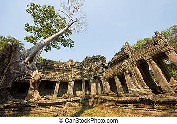 ruined temple in Cambodia