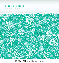 Snowflake Texture Horizontal Torn Seamless Pattern Background
