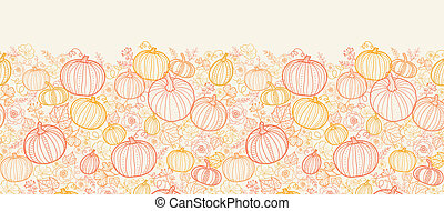 Thanksgiving line art pumkins vertical seamless pattern...