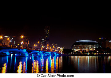 the esplanade and cityscape at Singapore