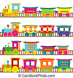 dessin animé,  trains