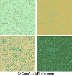 Wavy retro patterns - Abstract eps 10 vector seamless...