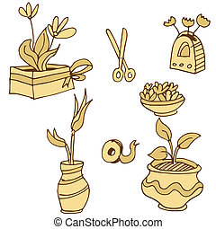 Plant Containers Icon Set