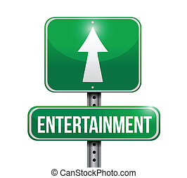 entertainment road sign illustration design