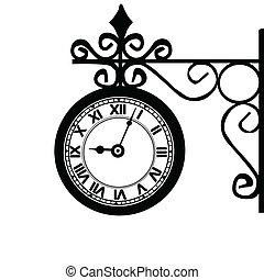 Retro street clock