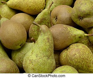 pears - Ripe conference pears for sale at a flea market.