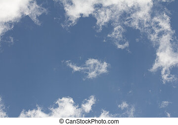 background of beautiful blue sky with clouds