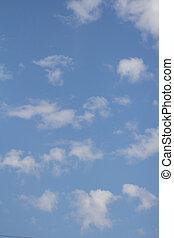 美麗, 藍色, 云霧, 背景, 天空