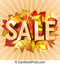 Vector illustration of Sale word for sales promotion. Vector...